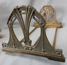 Antique Art Nouveau Expanding Bookends