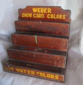 Antique Advertising Weber Paint Display Shelf