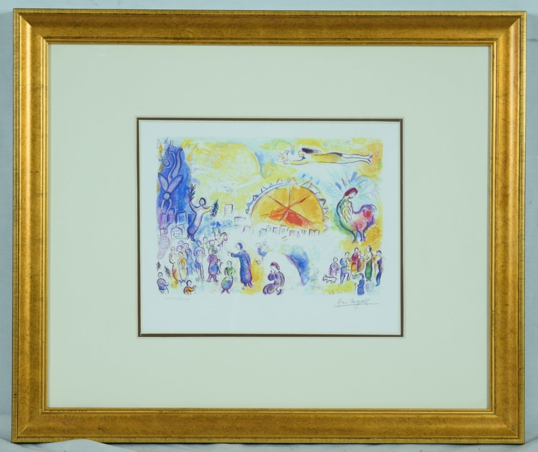 """Chagall """"The Four Seasons"""" Giclee with Facsimile"""