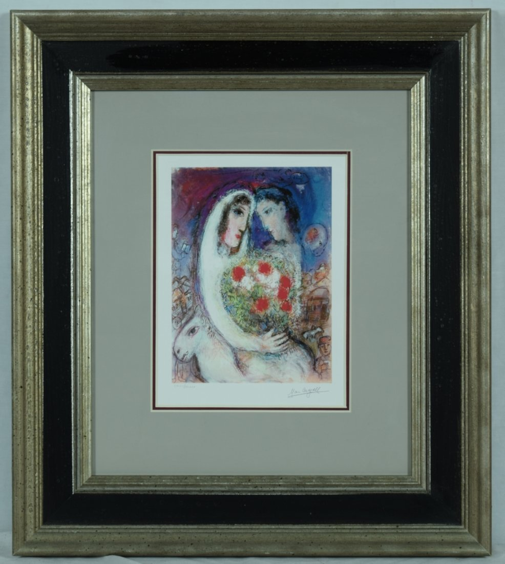 """Chagall """"The Marriage"""" Offset Print"""