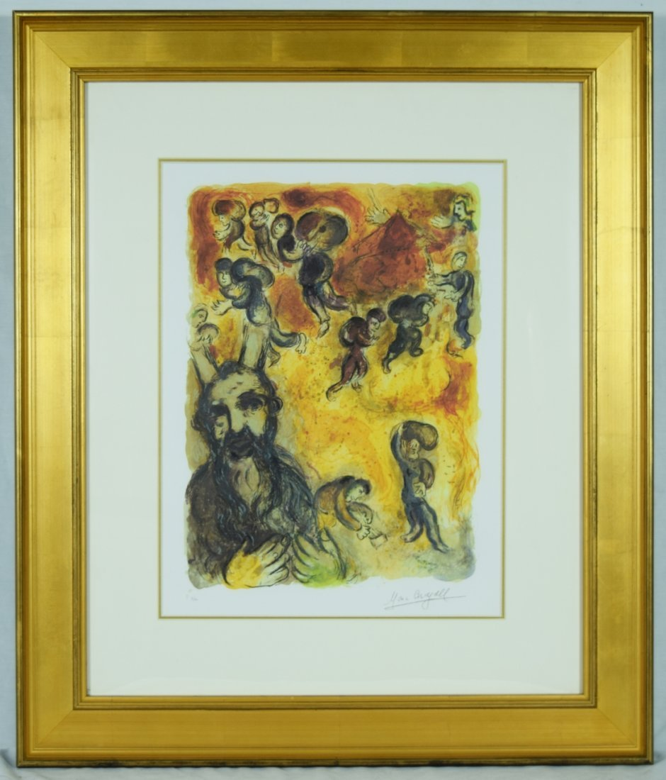 """Chagall """"Moses sees the suffering of his people"""" Giclee"""