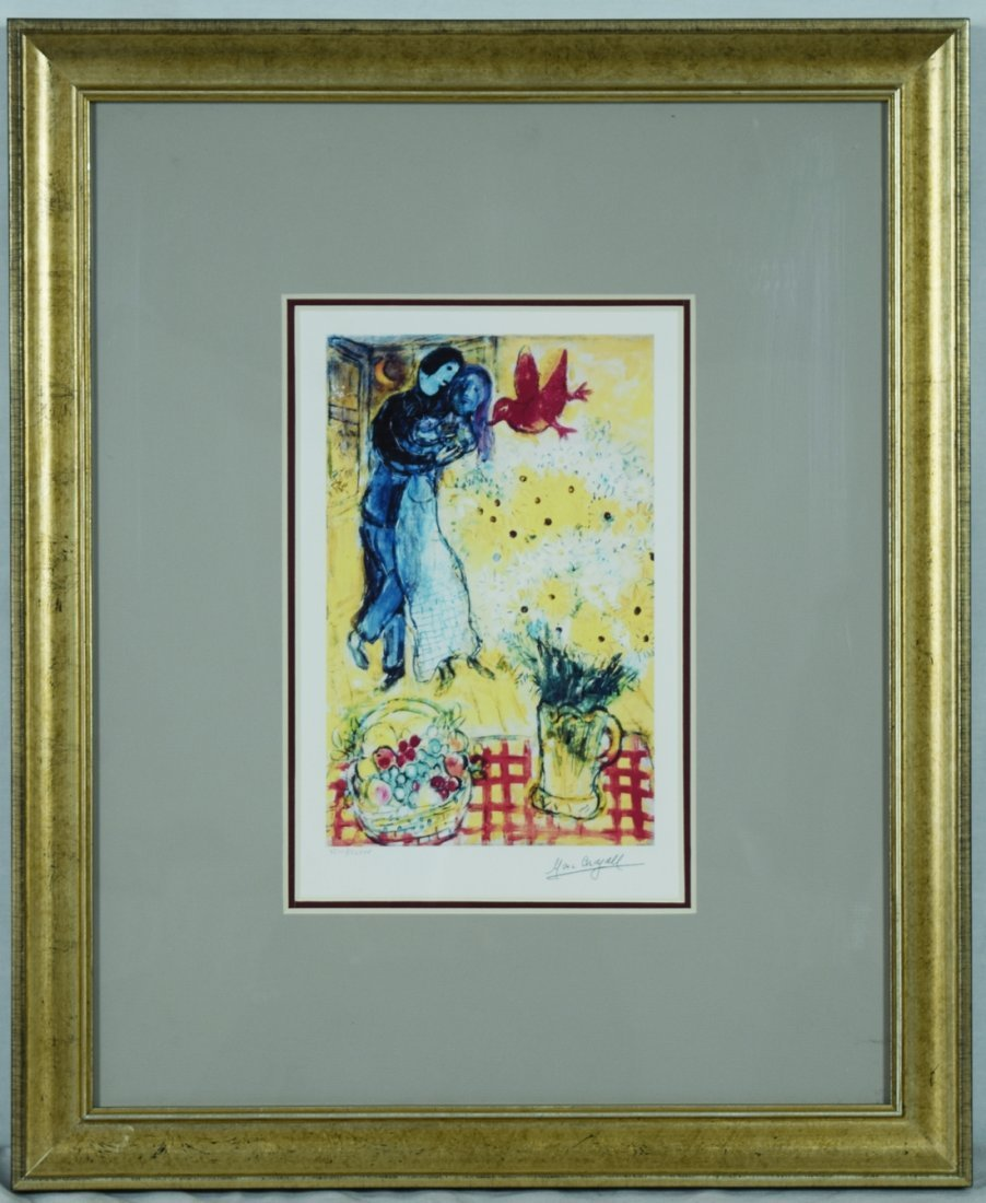 """Chagall """"Lovers and daisies"""" Giclee"""