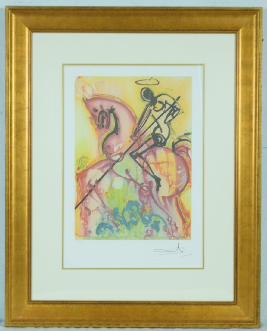 "Salvador Dali ""St. George"" Offset Print"
