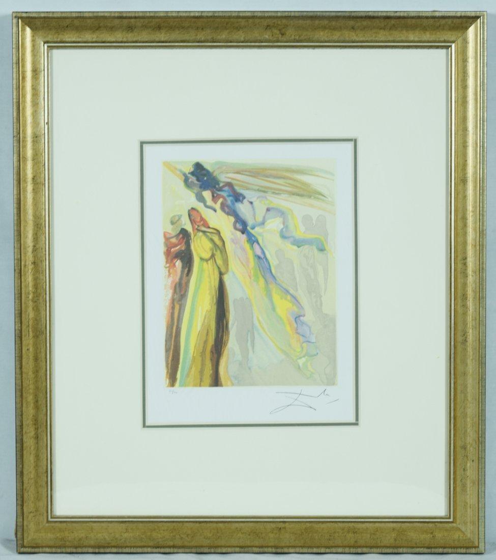 "Salvador Dali ""Two wreaths of spirits"" Offset Print"