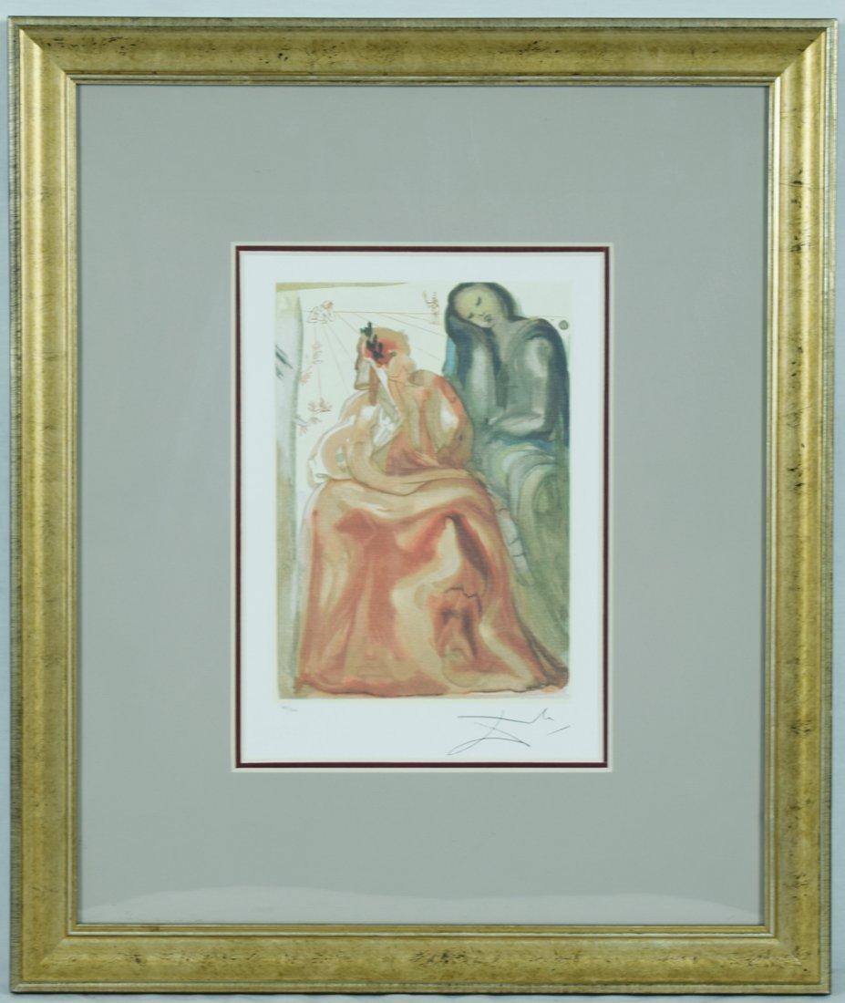 """Salvador Dali """"Reawakening of Dante"""" Offset Print"""