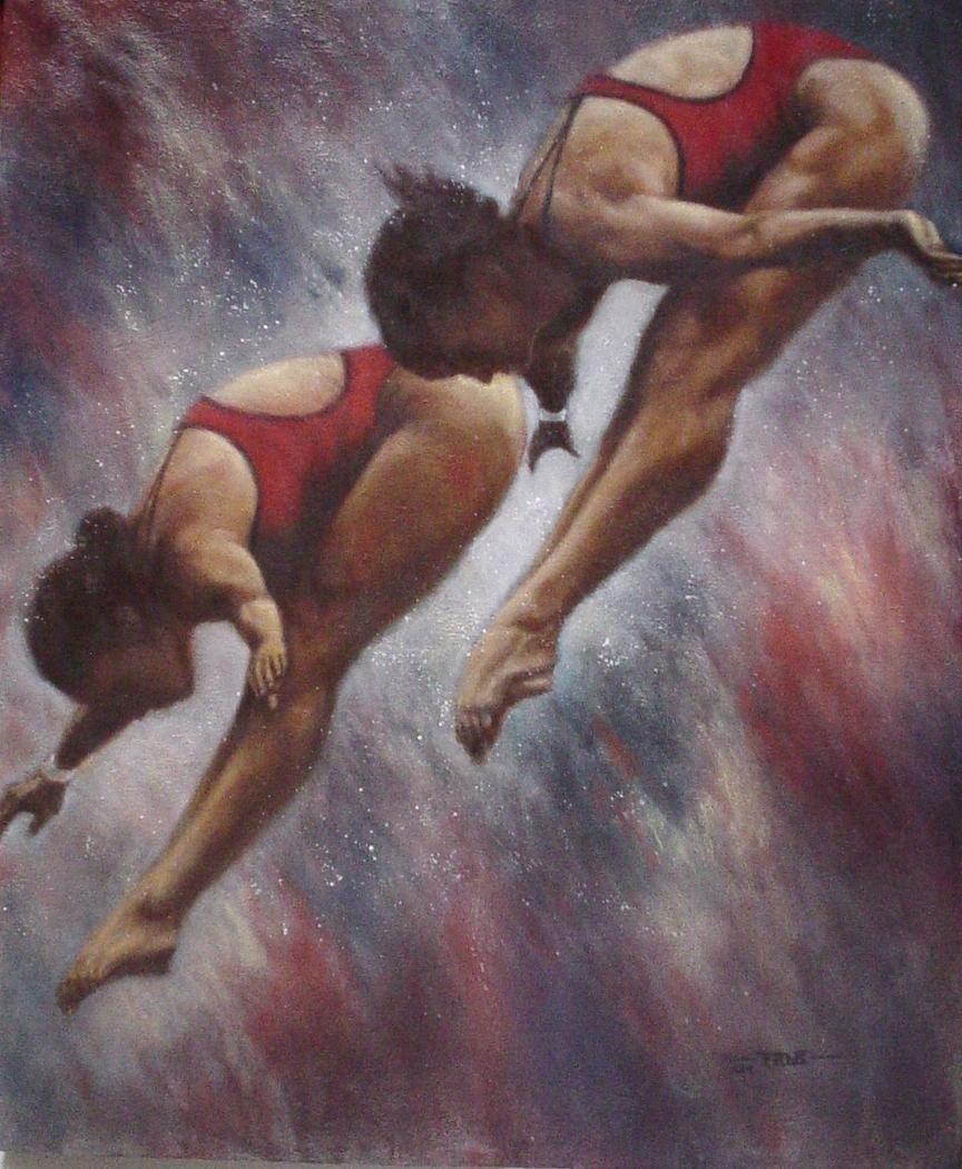 Diving for Gold-Original Ramirez Aguilar