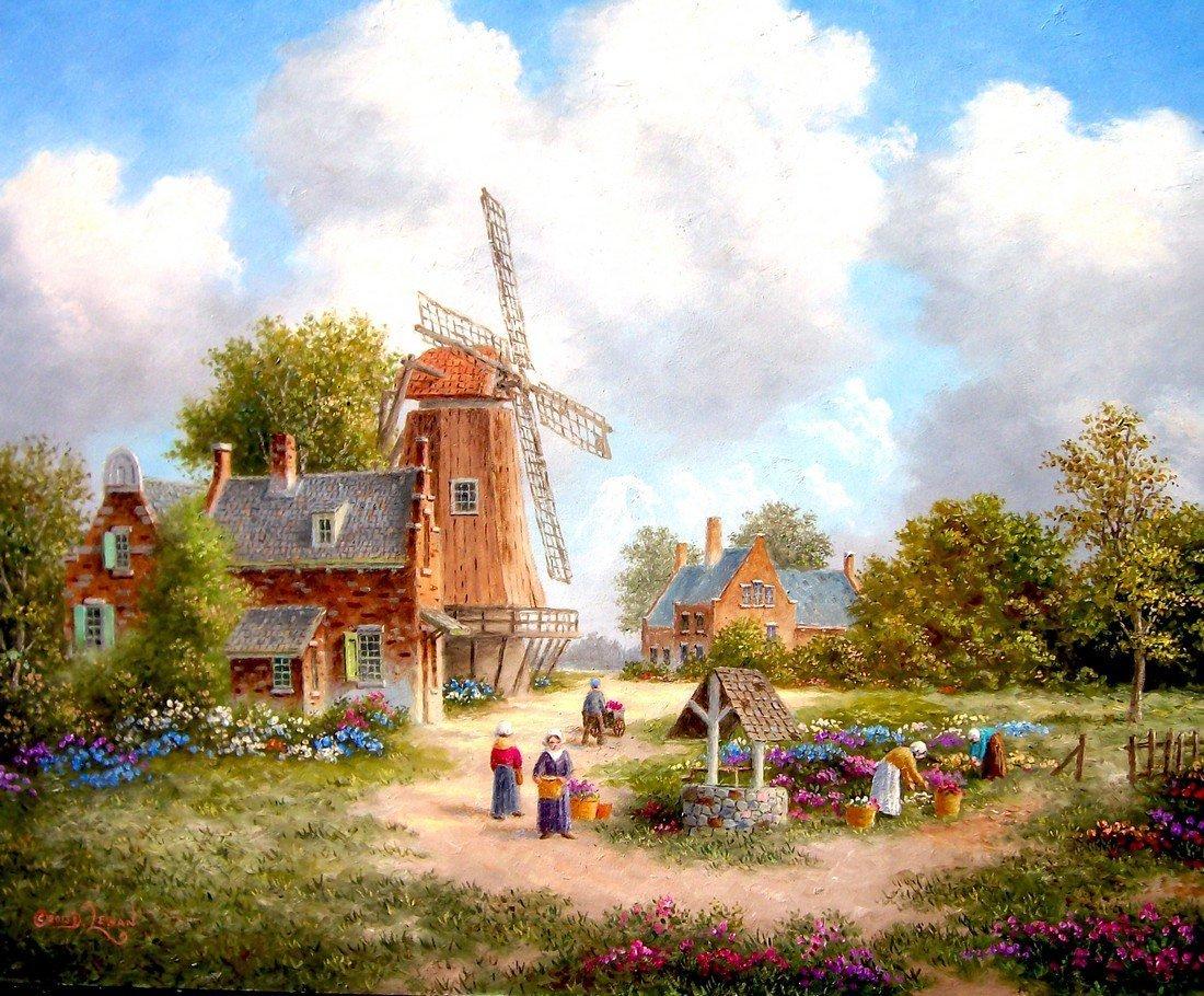 Harvesting The Flowers-American Artist Dennis