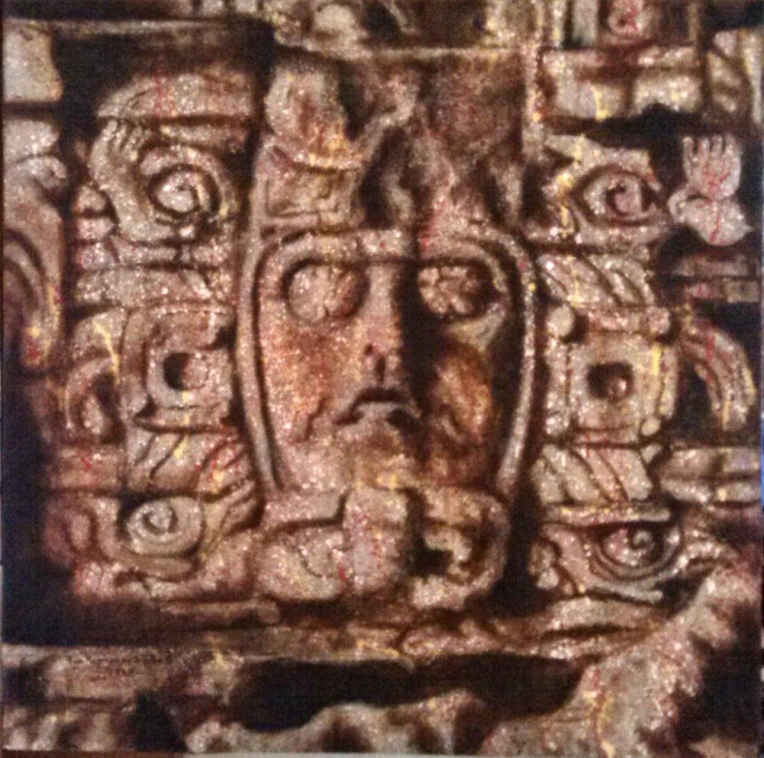 The Mask of Kohunlich-Original Ramirez Aguilar