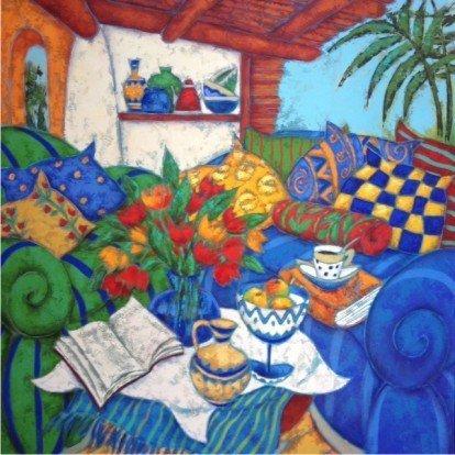 Acrylic & Texture on Canvas-Original Izabela