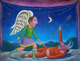 Gabriel & Gabriel-mexican Folk Art Original By German