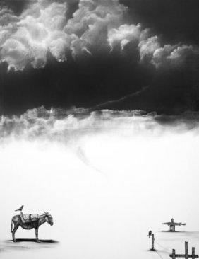 Mixed Media Original-mexican Surrealist