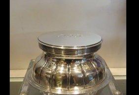 Unusual Antique Birmingham Sterling Silver Inkwell