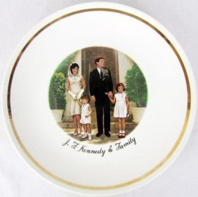 Porcelain Collectible John. F. Kennedy Family Plate