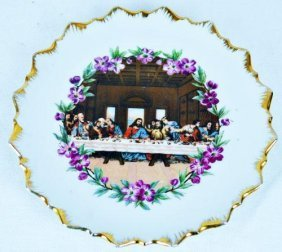 Vintage Porcelain Last Supper Plate