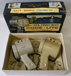 Vintage Hasbro Twin Navy Blinker Code 2 Lite Set, Morse