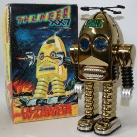 Vintage Limited Edition Gold Plated Thunder Robot
