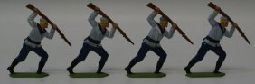 Lot Of 4 German Navy Military Lead Hand Painted Toy