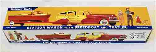 Dimestore Dreams 143 STATION WAGON with SPEEDBOAT