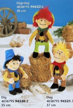 Adorable Sonni (germany) Plush Stuffed Digedag, Dig &