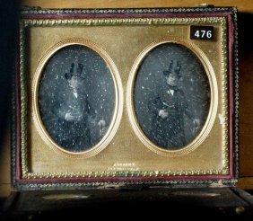 Stereo Daguerreotype Of A Gentleman In A Mascher Case