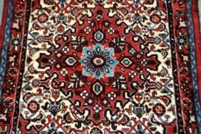 Amazing Design Hand Knotted Collectible Hamedan, 3.7 X