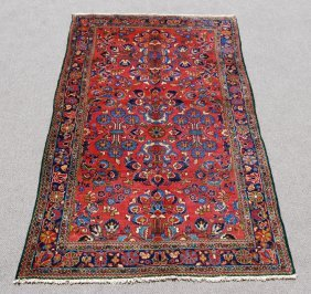 Highly Detailed Hand Woven Persian Lilian, 5.5 X 9.5