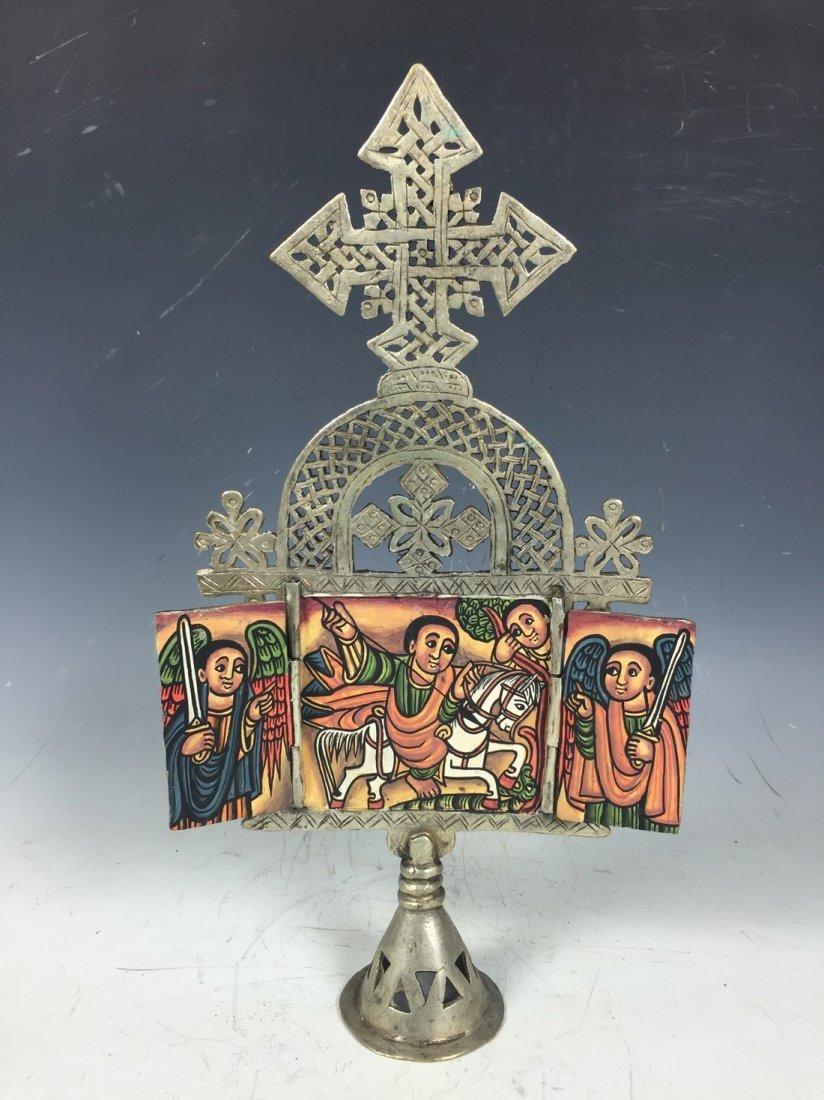 ETHIOPIAN COPTIC ICON CROSS