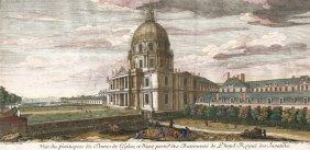 Vue Du Frontispice Du Dome De L'eglise, Et D'une Partie