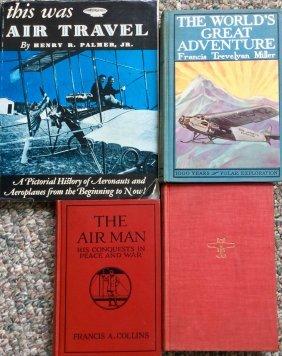 Vintage (4) Hc W/ Djs Early Aviation Book Lot