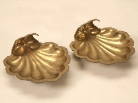 Solid Brass Footed Decorative Dishes