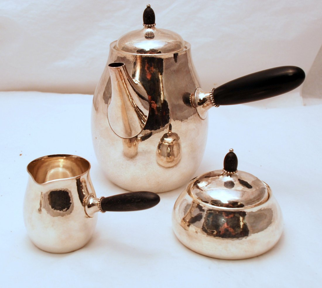 Georg Jensen Sterling Silver Coffee Set 80D