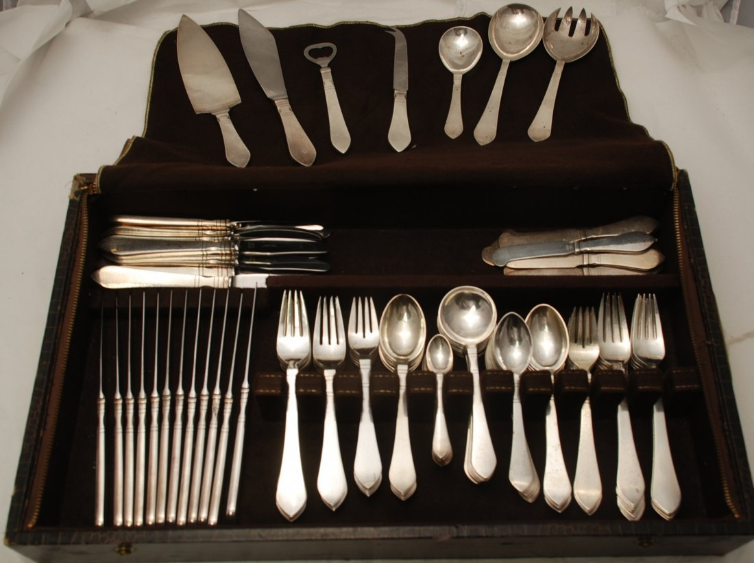 Georg Jensen Sterling Silver Continental Flatware Set f
