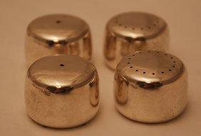 Set Of 4 Georg Jensen Sterling Silver Salt & Pepper