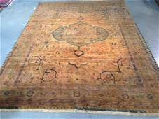 8x11 MAGNIFICENT VINTAGE DESIGN HAND KNOTTED WOOL RUG