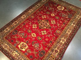 """6x9 Authentic Super """"kazak"""" 100% Hand Knotted Wool"""