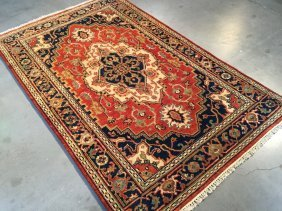 High Quality 4x6 Serapi Design Hand Knotted Wool Rug