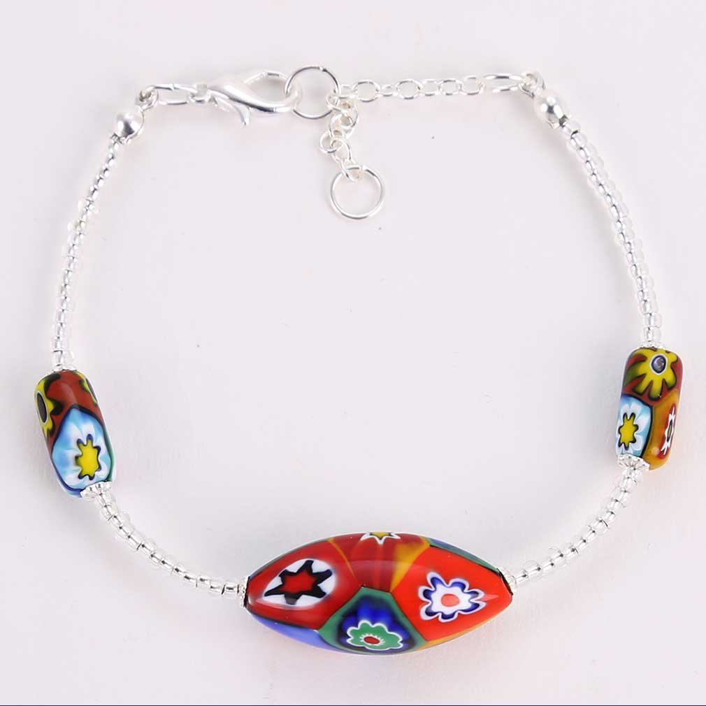 Luminoso Murano Millefiori bracelet