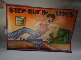 """""""step Out In Levis"""" Store Display Poster"""