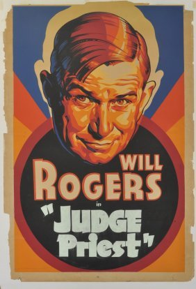 "Will Rogers ""judge Priest"" Poster"