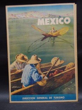 Salvador Pruneda Travel Poster For Mexican Tourism