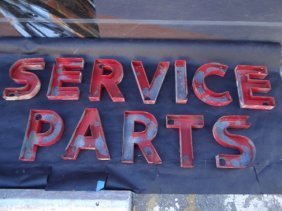 "Bill Murphy Buick ""service Parts"" Metal Lettering"