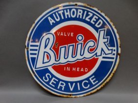 "Buick ""valve In Head"" Authorized Service Porcelain"