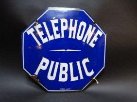 Teléphone Publique Sign