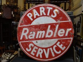 Rambler Double-sided Parts And Service Sign