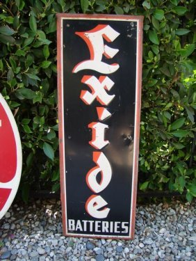 "Advertising Sign ""exide Battery"""