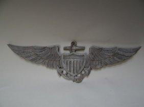 U.s. Naval Aviation Cast-aluminum Insignia Plaque
