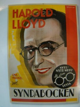 """Movie Poster """"the Cat's Paw"""" Harold Lloyd 1934"""