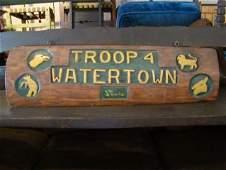 Vintage Cub Scout Troop 4 Sign
