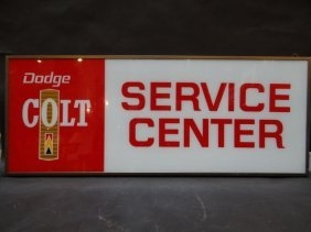 Mopar Dodge Colt Service Center Sign Circa 1975
