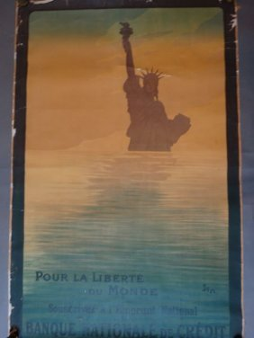 "French World War I Poster ""pour La Liberté Du Monde"" By"